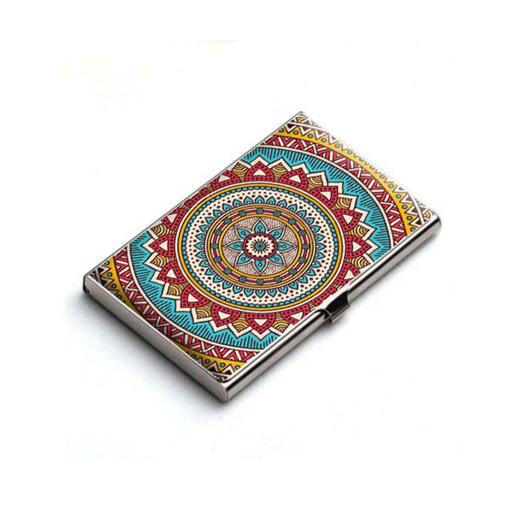 Mandala Card Holder Chakra Card Holder