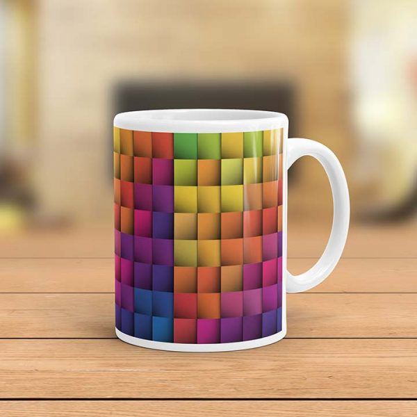 Multicolor Tiles Pattern Ceramic Mug