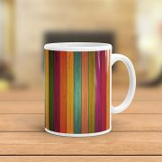 Multi Color Wood Pattern Mug