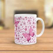 Butterfly Coffee Mug Beautifully Designed in Pink