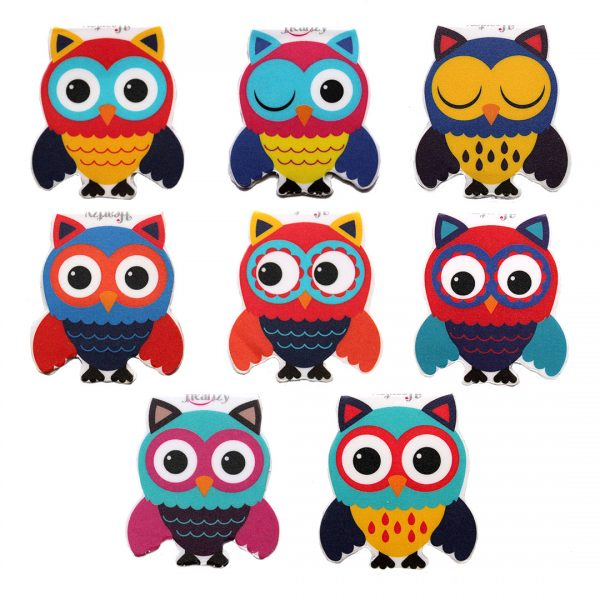 Gift for Kids Set of 8 Cute Owl Magnetic Bookmarks Combo by Heartzy