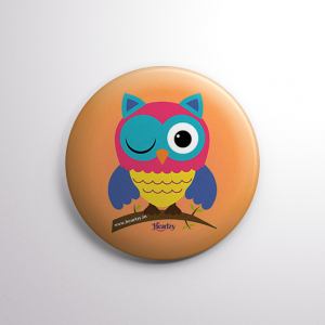 Cute Owl Badge