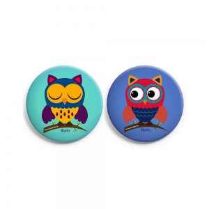 Set of 2 Owl Badge Combo