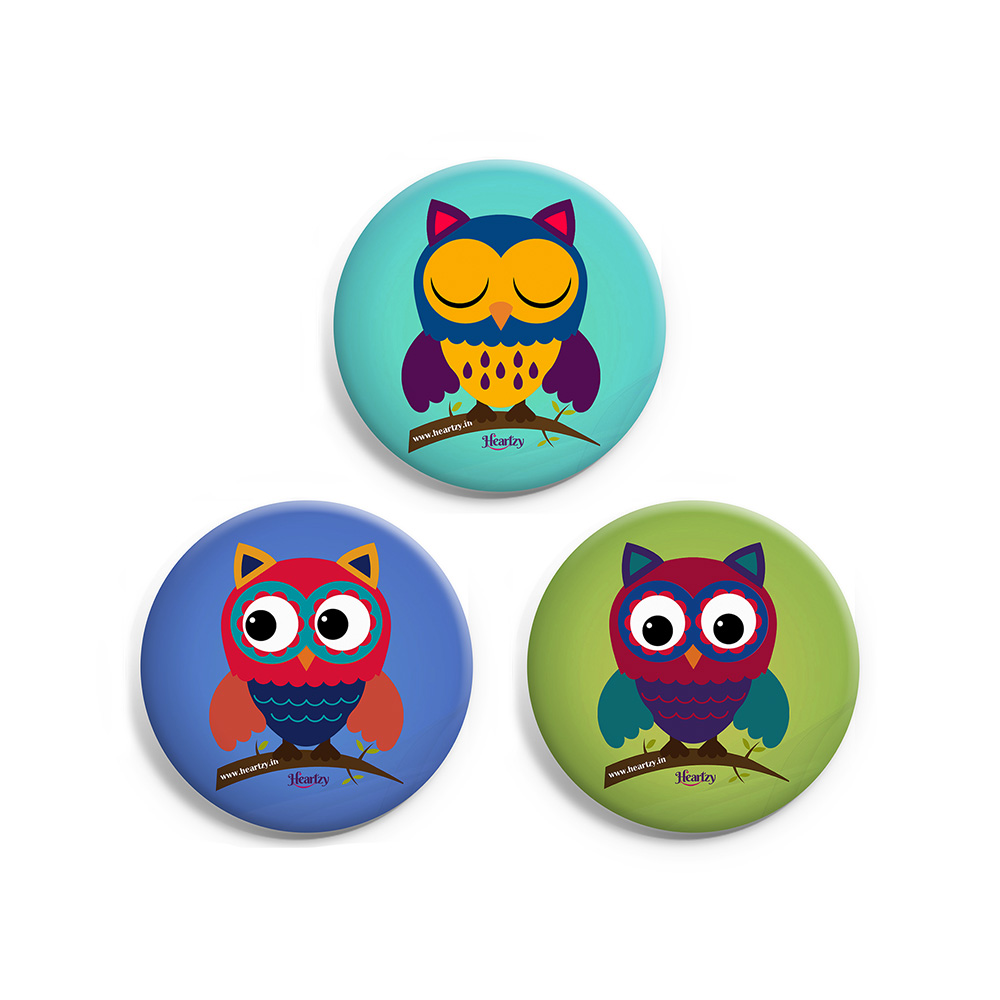 Set of 3 Owl Badge Combo