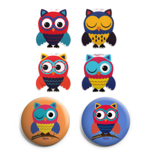 OWL Bookmarks Owl Badges Magnetic Bookmarks Gift Combo
