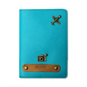 personalised passport covers Turquoise Blue
