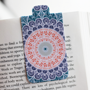 Set of 8 Chakra Mandala Bookmarks Magnetic Bookmarks by Heartzy